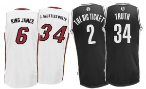 buy online 92bb7 519f9 Miami Heat Nickname Jerseys For Brooklyn Nets Game: Full ...