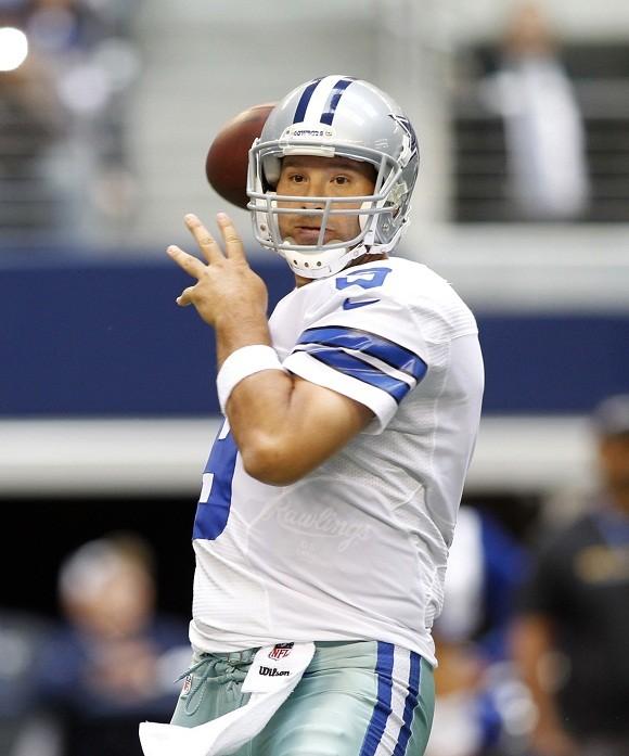 Cowboys QB Tony Romo breaks record for most TDs on